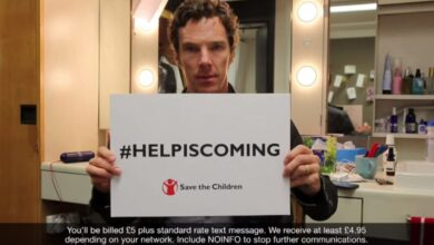 Photo of Benedict Cumberbatch urges People to Donate in the Help Is Coming video
